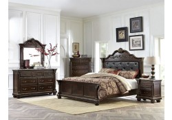Russian Hill Bedroom Set in Dark Cherry Finish