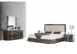 Modrest San Marino Italian Bedroom Set in Grey Lacquer