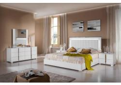 Modrest San Marino Italian Bedroom Set in White Gloss