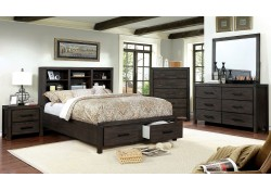 Strasburg Bedroom Set in Wire Brushed Rustic Brown