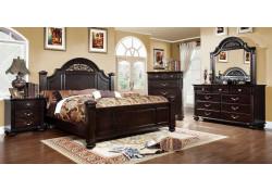 Syracuse Bedroom Set in Dark Walnut Finish