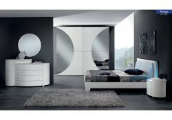 Tango Italian Bedroom Set in White Finish and LED Lights