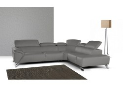 Nicoletti Tesla Sectional Sofa in Grey Italian Leather