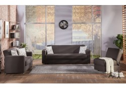 Tokyo Convertible Living Room Set in Diego Brown