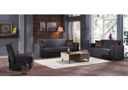 Tokyo Convertible Living Room Set in Santa Glory Gray