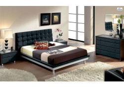 603 Toledo Black Modern Full, Queen, King Bedroom Set - Dupen Spain