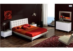 603 Toledo White Modern Full, Queen, King Bedroom Set - Dupen Spain