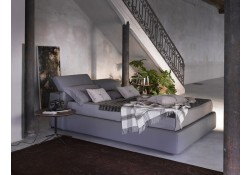 Tower Italian Platform Storage Bed in Grey Eco Leather