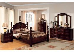 Tuscan II Bedroom Set in Dark Pine Finish