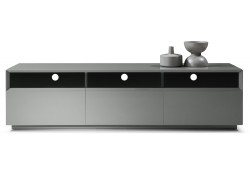 TV023 Long TV Stand in Grey High Gloss Finish