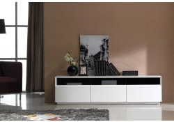 TV023 Modern Large TV Stand in White High Gloss Finish