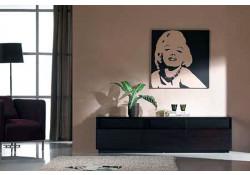 T023 Dark Oak Large Modern TV Stand