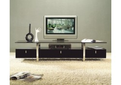 Unique Espresso TV Stand Display Cabinet