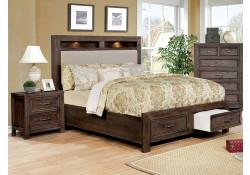 Tywyn Bedroom Set in Dark Oak with Storage Bed