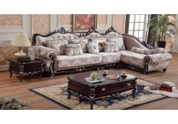 Valentino 697 Sectional Sofa in Traditional Fabric