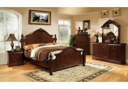 Velda II Bedroom Set in Brown Cherry