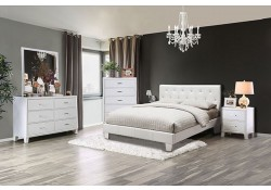Velen Modern Bedroom Set in White Finish
