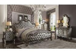Versailles Bedroom Set in Antique Platinum and Silver