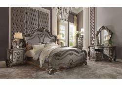 Versailles Antique Platinum Traditional Bedroom Set