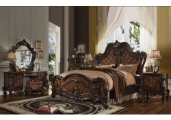 Versailles Traditional Bedroom Set in Cherry Oak Finish
