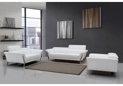 Divani Casa Ronen Living Room Set in White Leather