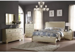 Voeville II Bedroom Set in Champagne Finish