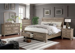 Willa Bedroom Set in Gray with Storage Bed