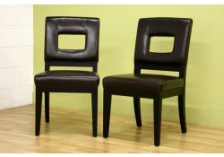 Faustino Contemporary Cut-Out Back Dining Chairs - Set of 2