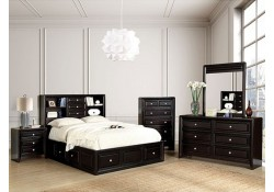 Yorkville Bedroom Set in Espresso with Storage Bed