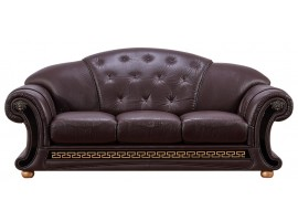 Versace Brown Leather Sofa