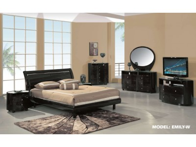 Emily Modern Bedroom Set in Wenge by Global Furniture