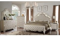 Cosmos Sonia Bedroom Set in Silver Finish