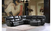 2711 Dark Grey Sectional Sofa with Electric Recliner