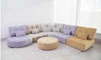 ESF Ariel Fabric Sectional Sofa 6 Piece by Fama, Spain
