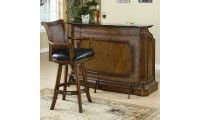 100173 Coaster Furniture Clarendon Traditional Marble Top Home Bar