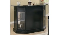 100175 Coaster Furniture Inwood Contemporary Black Home Bar Unit