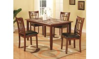 Jonesboro Cherry Wood 5 Piece Dining Set 102181