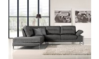 1372 Gray Chenille Fabric Modern Sectional Sofa