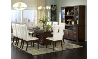 1410-92 Elmhurst Collection Wine Storage Table 7 Piece Dining Set