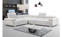 ESF 2119 Modular Sectional Sofa in White Leather