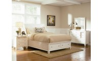 201309 Sandy Beach White Bedroom Set by Coaster Furniture