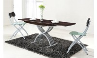 2110 Adjustable Height Wenge Table Dining Room Set