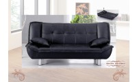 3006BL Modern Sofa Bed Sleeper in Black Leatherette