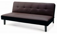 Dark Brown Modern Click Clack Sofa Bed Sleeper 11