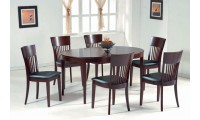 Oval Solid Wood Table Dining Room Set Cafe 33