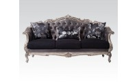 Chantelle Sofa Set in Antique Platinum Finish