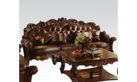 Vendome Classic Living Room Set in Brown Leather