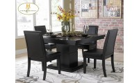 Homelegance 5235-54 Cicero Dining Set in Black Finish