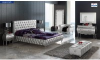 623 Lorena Bedroom Set in Silver Finish by Dupen, Spain