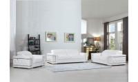 Divanitalia 692 Living Room Set in White Leather
